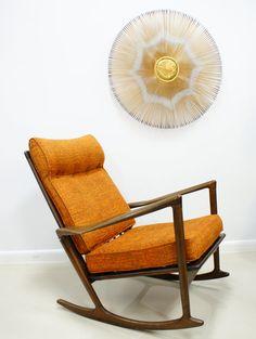 Vintage Danish Rocking Chair on Etsy