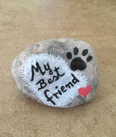 My Best Friend Painted Rock Hand Painted Rock For by MelidasArt