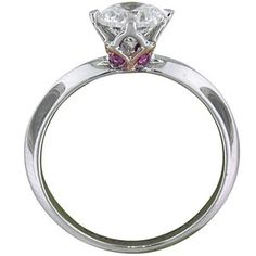 Custom Designed Classic Knife Edge with Surprise Pink Sapphires Custom Jewelry Design, Custom Design, Cloche, Brilliant Earth, Anniversary Rings, Pink Sapphire, Diamond Jewelry, Bling, Wedding Rings