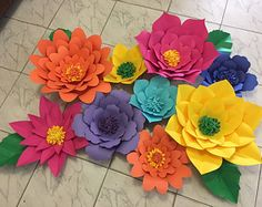 Tropical Paper Flowers for any event