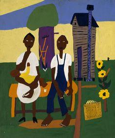 Farm Family - Nursing Child - William H Johnson (1944) William H. Johnson More Pins Like This At FOSTERGINGER @ Pinterest