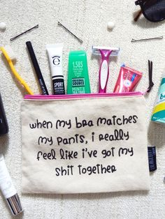 The holiday beauty essentials under 100ml! Mascara to toothbrush and the fun make up bag, everything you need! Via Queen of the LBD