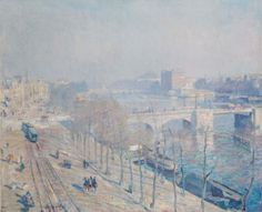 Hendrik Jan Wolter (Amsterdam 1873-1952 Amersfoort) | A view of the Amstel, Amsterdam | Paintings, painted | Christie's
