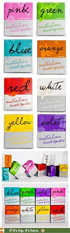 Pretty packaging for Australian Bush Spices.