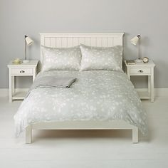 Buy John Lewis Agapanthus Bedding, Grey Online at johnlewis.com