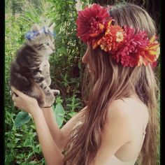 Had to post this for #caturday ! This was from when we spent the summer in Florida. This Lush Harvest crown is  Available in my etsy shop  kitty crowns available too    WWW.DIESELBOUTIQUE . ETSY. COM   #bohokitty #boho #kitten #cute #flowercrown #catlovers  #catsofinstagram #festival #petsofinstagram #kittycat #bohemian #wedding #freespirit #gypsy #bohowedding #hipster #summer #coachella #highsociety #kittensofinstagram #nature #ilovecats #bohobride #beautiful #animallover #instagood…