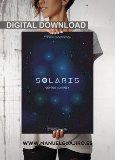 Solaris, poster alternativo, poster de cine, George Clooney, Steven Soderbergh, Stanisław Lem, Natascha McElhone de ManuelGuajiroDesigns en Etsy