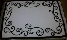 Wedding Shower Sheet Cake