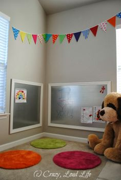 Magnetic dress erease boards made from sheet metal. Perfect for an office or playroom. Crazy, Loud Life: Child's Play
