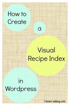 How to Create a Visual Recipe Index in Wordpress