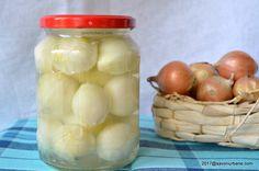 Ceapa murata in otet – perle de ceapa Pickling Cucumbers, Pickles, Garlic, Jar, Canning, Vegetables, Food, Anna, Drink