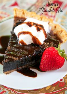 Minny's Chocolate Pie.