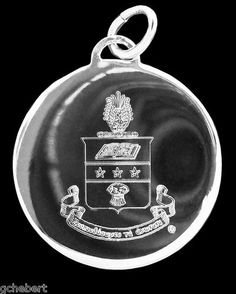 Alpha Chi Omega Silver Crest Engraved Charm available in Good Things From Louisiana, an ebay store.