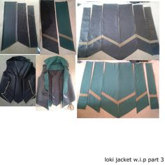 part 3 of making my loki jacket , just showing the finished tails ready to add on later once ive sorted out the lining in the jacket ,theres probs only going to be 1 more part on the jacket showing...
