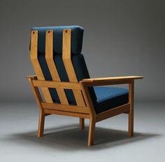 Børge Jensen; Oak Lounge Chair, 1960s.