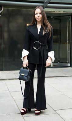 Shop now. Celenie Fleur Seidel wears Rejina Pyo jacket. Available at Style.com