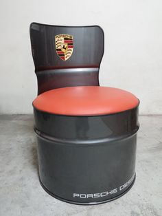 Oil drum seat Porsche design. For sale