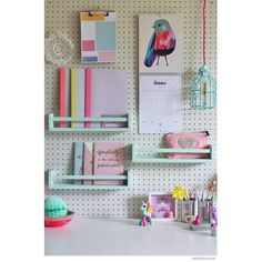 Peg boards: to hang stuff on your walls and still get your deposit back! Also a good way to add a touch of colors in the apt when painted...