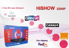 Original Hishow in stock delivery in 24hours same cloud hd n3(will stop) open sky italian,Canal +,CanalSat $43.50