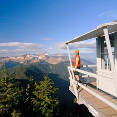 Stay overnight in one of 14 historic firetowers.