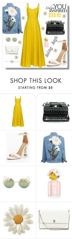 """Daisy Days"" by gryffindor-designer ❤ liked on Polyvore featuring Rosie Assoulin, Olympia, Full Tilt, Marc Jacobs and Valextra"
