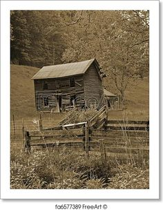 Abandoned farm located in rural West Virginia. Free art print of Retro look old farm house. Old Buildings, Abandoned Buildings, Abandoned Places, Abandoned Farm Houses, Old Farm Houses, Building Structure, Building A House, Building Ideas, Farm House Images