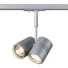 BIMA II Leuchtenkopf, silbergrau, 2xGU10, max. 50W, inkl....