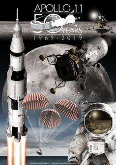 Apollo 11 & Apollo 12 moon landing infographic poster on Behance Apollo Space Program, Nasa Space Program, Hubble Space, Space And Astronomy, Space Saturn, Space Shuttle, Apollo 13, Apollo Rocket, Apollo Nasa