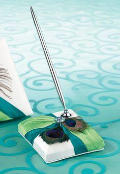 Peacock Pen Set