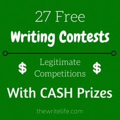Don't be taken in by scammy writing contests: there are legitimate competitions for your prose and poetry. Here are some fee-free options to get started.