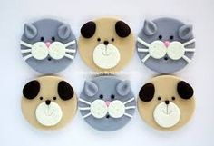 12 Edible Fondant Dog Puppy & Cat Kitty Cupcake Toppers - Tap the pin for the most adorable pawtastic fur baby apparel! You'll love the dog clothes and cat clothes! Fondant Cupcakes, Fondant Dog, Puppy Cupcakes, Animal Cupcakes, Fondant Animals, Fondant Cake Toppers, Fondant Figures, Cupcake Toppers, Deco Cupcake