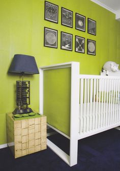 Saturate your #nursery with color, like this fun #apple #green.