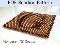 Beading Pattern Peyote Seed Bead Coaster by SimpleBeadPatterns, $4.00