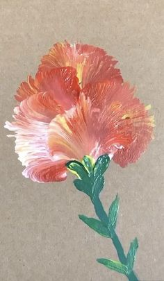 Easy Flower Painting, Flower Painting Canvas, Simple Acrylic Paintings, Flower Canvas, Flower Art, One Stroke Painting, Action Painting, Mini Canvas Art, Colorful Drawings