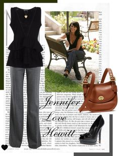 """""""Jennifer Love Hewitt 7"""" by princess-madeline ❤ liked on Polyvore love this... just not such a low top"""