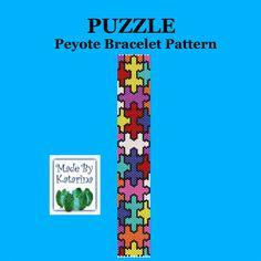 Puzzle Peyote Pattern Bracelet  craftsy made by Katarina