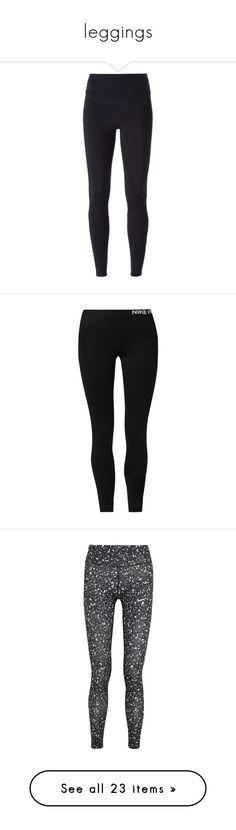 """leggings"" by elizabethmarie30 ❤ liked on Polyvore featuring pants, leggings, bottoms, jeans, nike, black, nike leggings, legging pants, high-waist trousers and skinny leg pants"