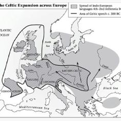 Celtic Expansion across Europe; these people were not just found in Ireland where the majority of their populations are. They were even found in the Roman Empire and they even Looted Delphi in 279 B.C. They were forced west due to Germanic Tribes.