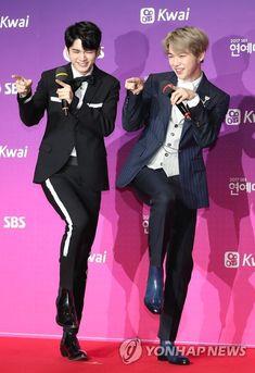 Wanna-One - Seongwoo and Daniel Kpop, Ong Seung Woo, Daniel K, Produce 101 Season 2, Kim Jaehwan, Ha Sungwoon, Korean Star, Seong, 3 In One