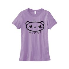 Kawaii Tee Kimama Kuma Kaomoji T-Shirt Kawaii Clothing Pastel Goth... ($20) ❤ liked on Polyvore featuring tops, t-shirts, black, women's clothing, cotton t shirts, bear t shirt, goth t shirts, cotton shirts and pastel goth shirts