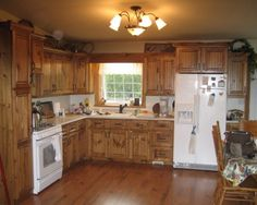 Pine Kitchen Cabinets   Google Search