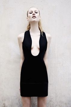 David Koma for Topshop - Love this cool conceptual shape and deep neckline!