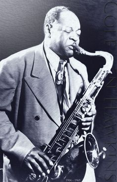 "Coleman Hawkins, Legend JAZZ Saxophone Musician, Canvas Art Poster 20""x14"" Blues"