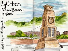 Albion Square Lyttelton 1 11 2016 | A day out sketching with… | Flickr
