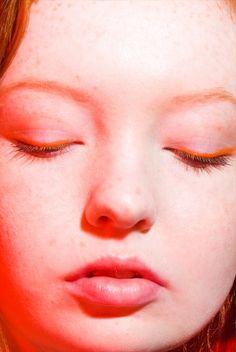 Orange eye liner
