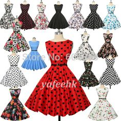 Cheap dress crop, Buy Quality dress chair directly from China dress shirt cuff links Suppliers: Summer Style 40s 50s 60s Rockabilly Retro Vintage Swing Dress Audrey' Hepburn Cotton Flower print Party Dress Plus Size