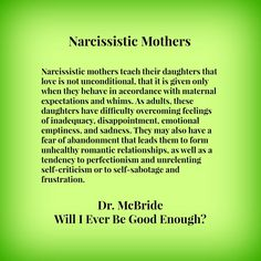 narcissistic mother - Google Search