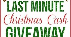 Last minute Christmas cash GIVEAWAY - Ask Anna