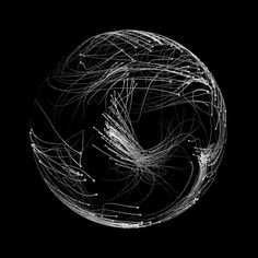 "Particle GIF art by TakumiThe Japanese artist known as Takumi creates fantastic generative art. Takumi's black and white gif designs ""are imagined from the behavior of microscopic particles to the. Art Génératif, Arte Dope, Gifs, Generative Art, Illusion Art, Gif Animé, Visual Effects, Geometric Art, Motion Design"