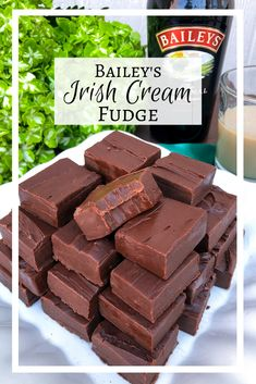 The most incredible fudge of your life made with Bailey's Irish Cream! This delicious, creamy dark chocolate fudge would be perfect for Christmas or Saint Patrick's Day. Baileys Fudge, Homemade Baileys, Baileys Recipes, Homemade Fudge, Fudge Recipes, Candy Recipes, Baileys Cheesecake, Homemade Candies, Irish Recipes